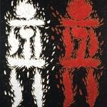 Adam Kadmon factor masculino y femenino, 1996. Oil on canvas, 140 x 120 cm