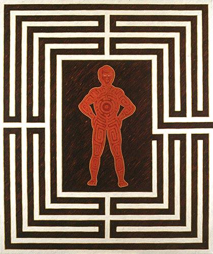 El laberinto (autorretrato), 1997. Oil on canvas, 180 x 150 cm