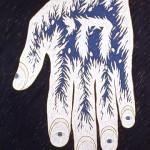 La mano que ve, 1996. Oil on canvas, 140 x 100 cm