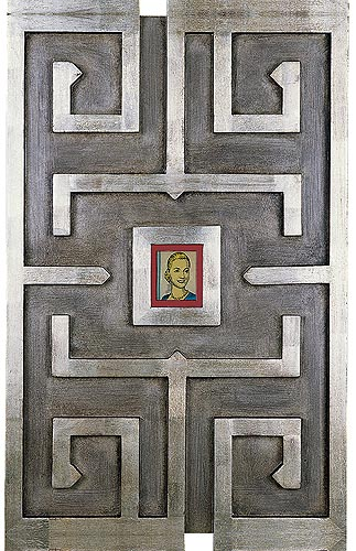 Santa Evita Icono devocional, 2004. Mixed media, 60 x 40 cm