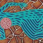 Difunta correa, vertiente de sanidad, 2004. Oil on canvas, 90 x 180 cm