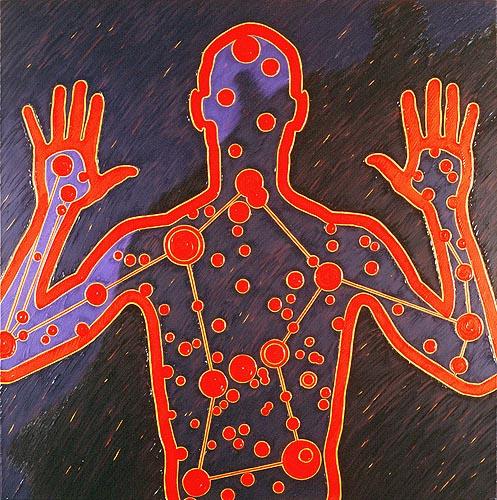 Reflejo del hombre, 1999. Oil on canvas, 120 x 120 cm