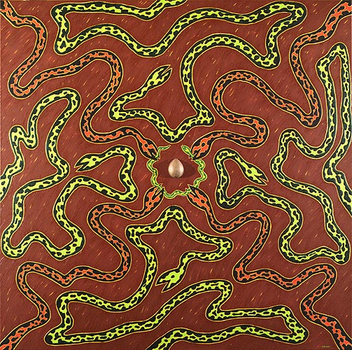 Rueda de la vida, 1997. Oil on canvas, 160 x 160 cm