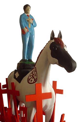 Camino a la Santidad, 2004. Free Horses. Centro Cultural Recoleta terraces, Buenos Aires