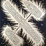 Aleph laberíntico, 1997. Oleo sobre tela, 200 x 180 cm