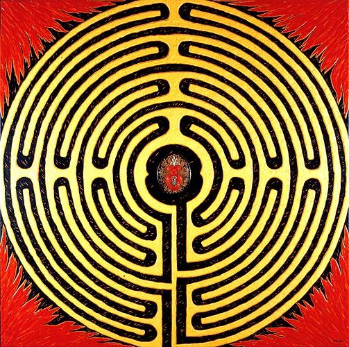 Camino de la redención, 1997. Oleo sobre tela, 120 x 120 cm
