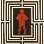 El laberinto (autorretrato), 1997. Oleo sobre tela, 180 x 150 cm