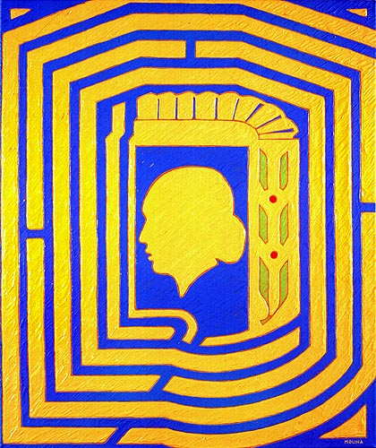 Laberinto histórico, 1997. Oleo sobre tela, 60 x 50 cm
