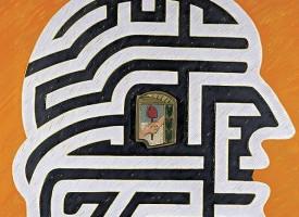 El refugio de los descamisados, 2004. Oleo sobre tela, 120 x 120 cm