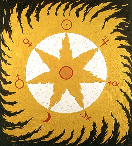Ojo de Dios, 1995. Oleo sobre tela, 200 x 180 cm