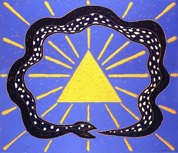 Ouroboros unicista, 1995. Oleo sobre tela, 120 x 140 cm