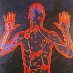 Reflejo del hombre, 1999. Oleo sobre tela, 120 x 120 cm