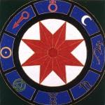 Rueda de la obra, 1995. Oleo sobre tela, 90 x 90 cm