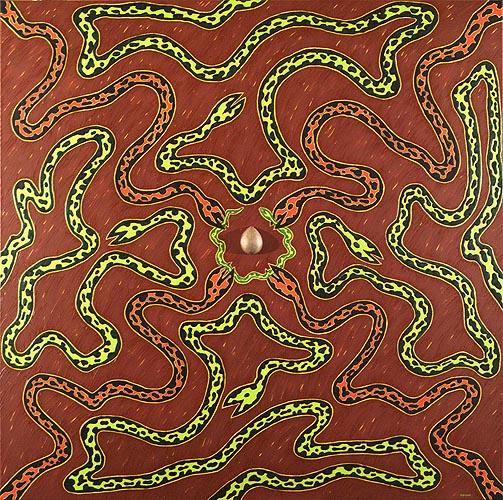 Rueda de la vida, 1997. Oleo sobre tela, 160 x 160 cm