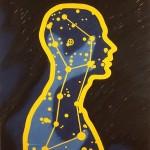 Sello cósmico, 1999. Oleo sobre tela, 90 x 80 cm