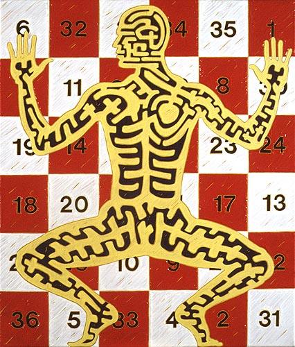 Tabla mística, 2000. Oleo sobre tela, 53 x 45 cm